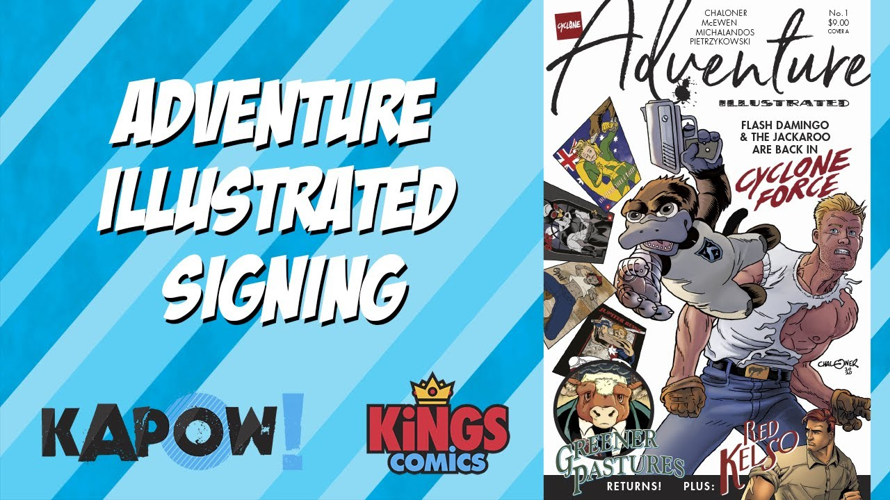 Adventure Illustrated Signing