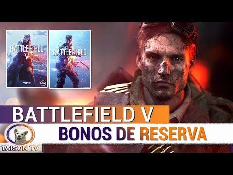 BATTLEFIELD V BONIFICACIONES DE LA RESERVA - SKINS Y 5 ARMAS PARA BF1 NUEVAS