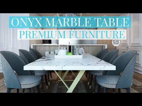 Premium Dining Set Oynx Marble Top Imported Youtube