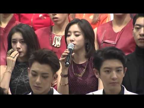 141025 2014 Korean Music Wave in Beijing Press Conference - T-ara Eunjung Talk + MC Translation cut