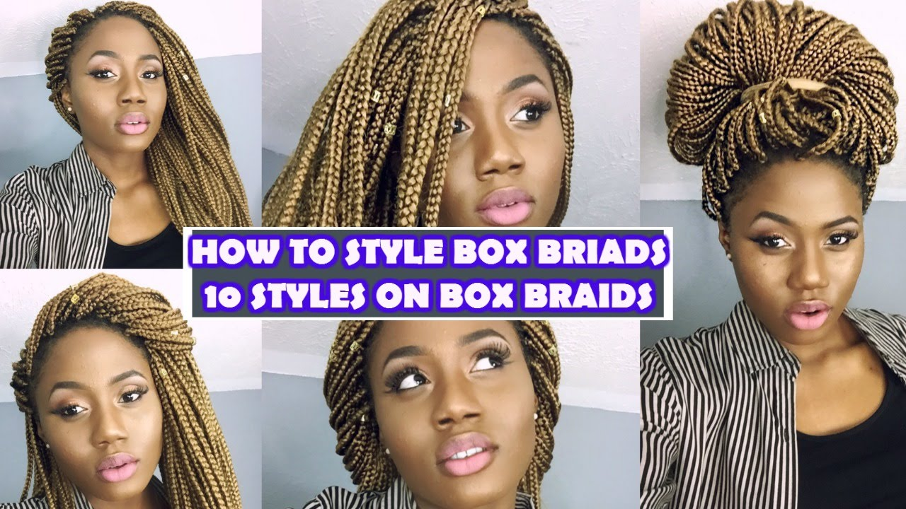 different ways to style braided hair 10 easy ways to style box braids 5455