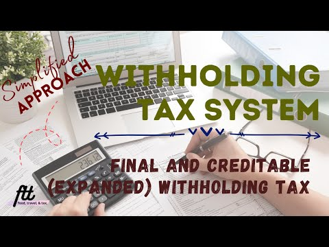 [TOPIC 16] WITHHOLDING TAX SYSTEM   Final and Creditable (Expanded) Withholding Taxes