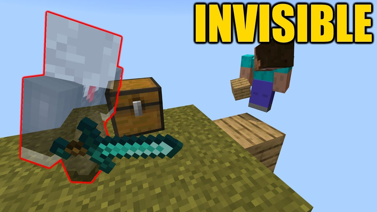 Invisible skin for MCPE 9.9.90.9 !!! // Minecraft Bedrock Edition