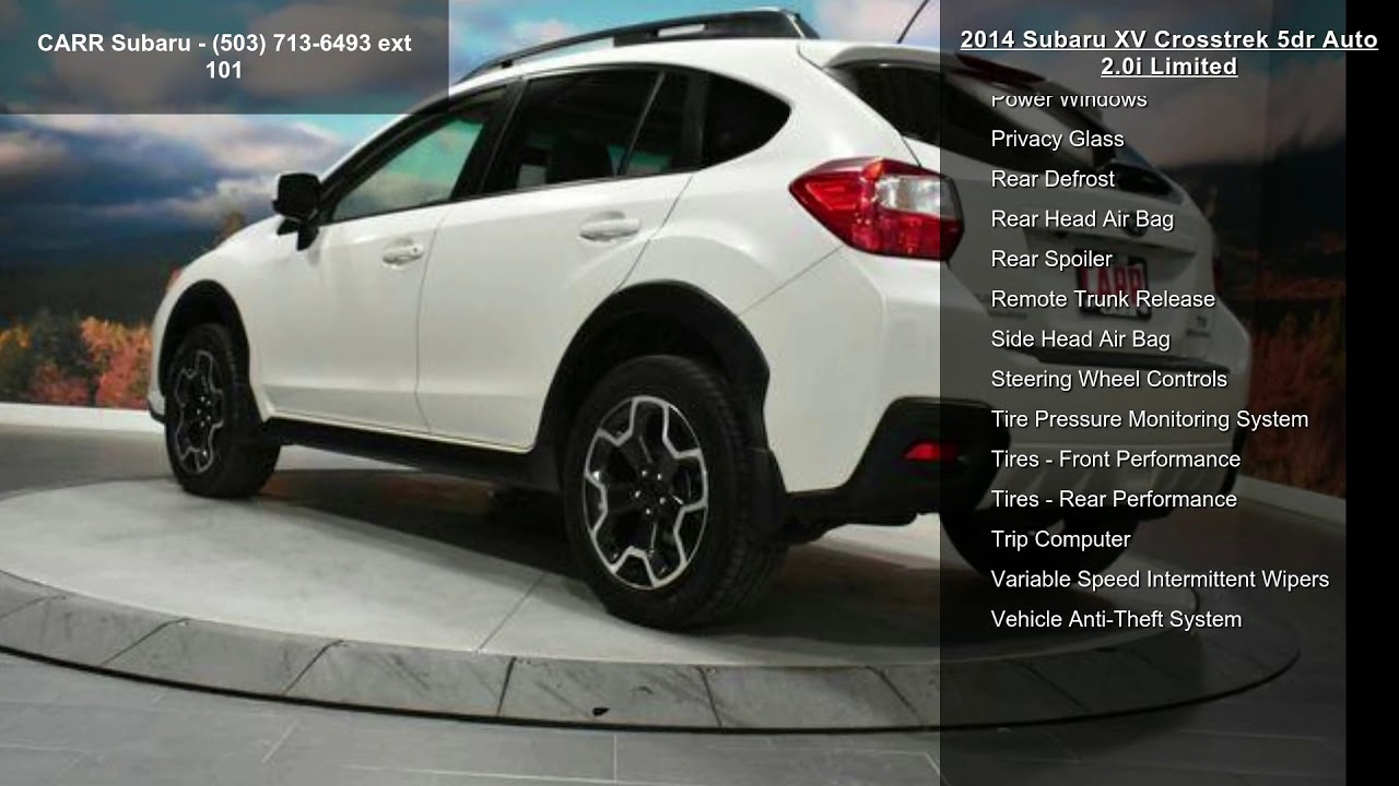 2014 Subaru Xv Crosstrek 2 0i Limited >> 2014 Subaru Xv Crosstrek 5dr Auto 2 0i Limited