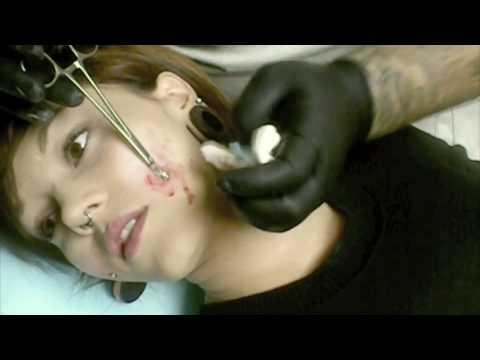 Piercings by Dan  |Cheek Microdermal Piercing