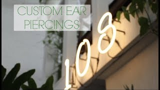 I Got Custom Ear Piercings!   108 Studios