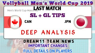 CAN vs JPN Dream11 | Teams & Tips | Volleyball Worldcup | Grand League Tips