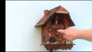 Cuckoo Clock - Animated Chimney Sweep, Dancers And Water-wheel