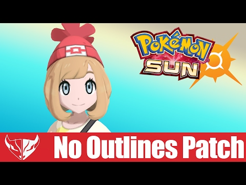 Pokemon Sun & Moon / Ultra Sun & Ultra Moon - No Outlines Patch