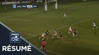 PRO D2 - Résumé Provence Rugby-Vannes: 38-23 - J4 - Saison 2018/2019