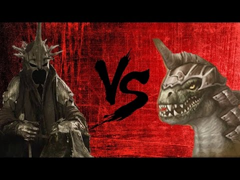 BFME2: Witch-King Vs. Drogoth The Dragon Lord!