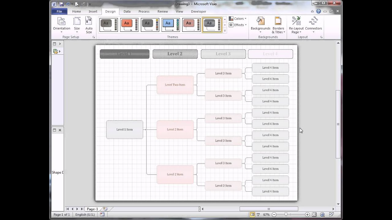 medium resolution of visio hierarchical template