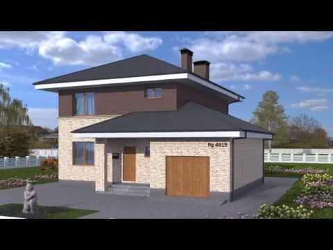 Презентация проекта двухэтажного дома Rg4819