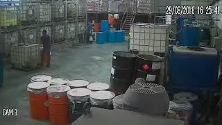 Salah satu contoh kecelakaan kerja