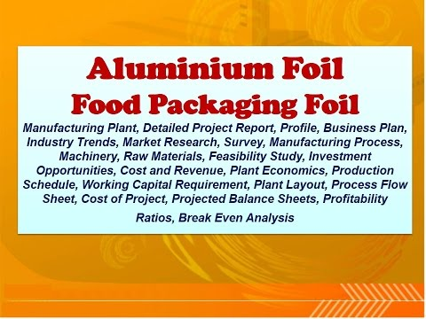 Aluminium Foil, Food Packaging Foil Manufacturing Plant, Detailed Project Report
