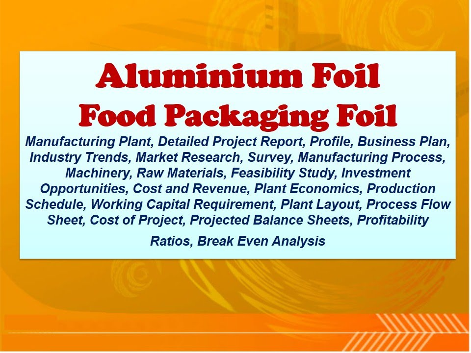 Aluminium Foil, Food Packaging Foil Manufacturing Plant, Detailed