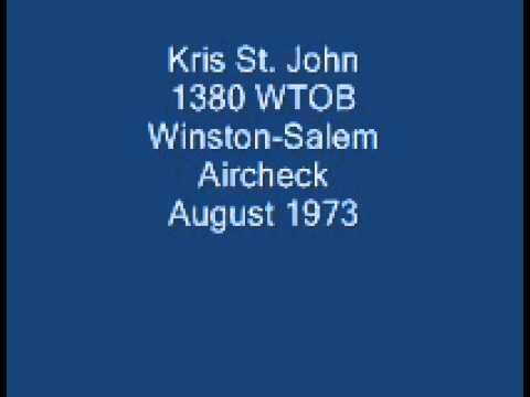 Kris St. John - 1380 WTOB Winston-Salem Aircheck - 1973