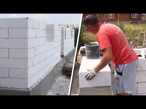 видео: ДОМ С НУЛЯ. Кладка  газоблока | За 2 ДНЯ пол этажа