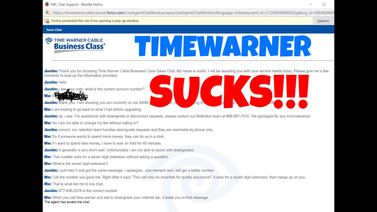 Louis calls TimeWarner cable and gets $14,000 early termination fee