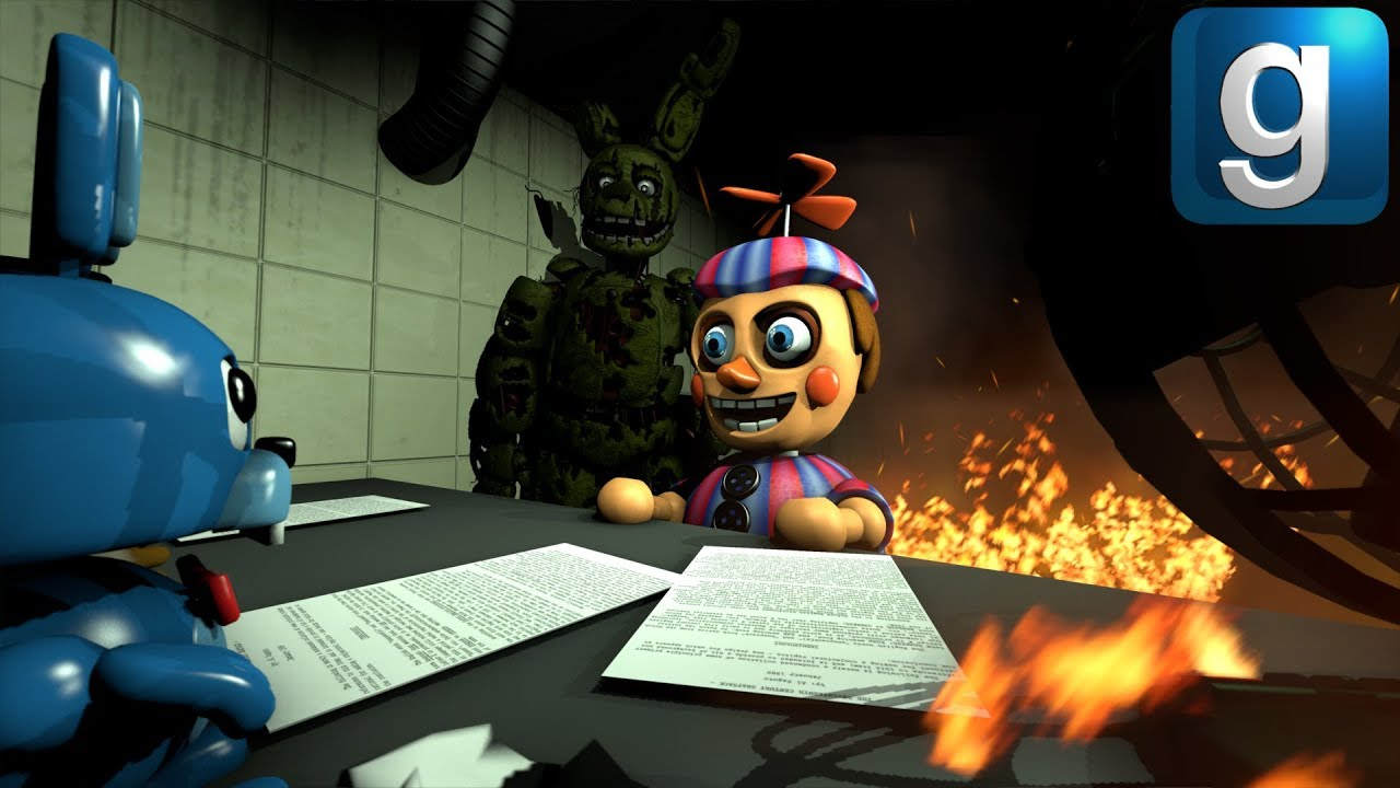 Gmod FNAF | Burning Five Nights at Freddy's 3 To The Ground!!! [Part 1]