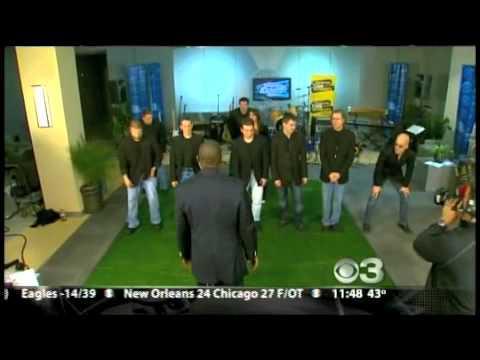 Philadelphia Funk Authority at CBS3 Studio with Beasley Reece - Football demo