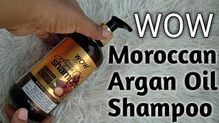 WOW Moroccan Argan Oil Shampoo Review in Hindi  | Shampoo for extra Dry Hair #WOW #peoductreview