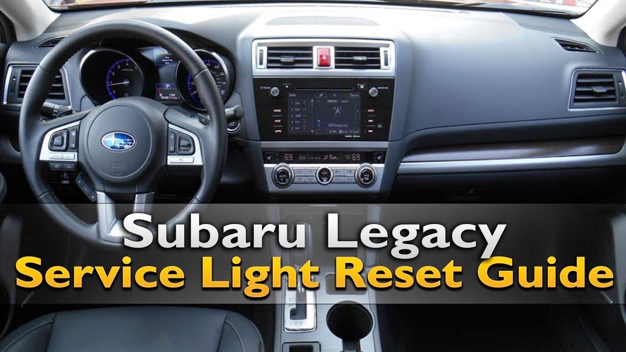 Subaru Legacy Service Light Reset YouTube