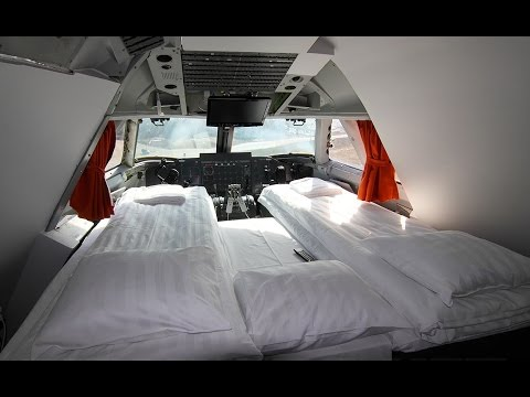 Amazing Hotel inside a Boeing 747