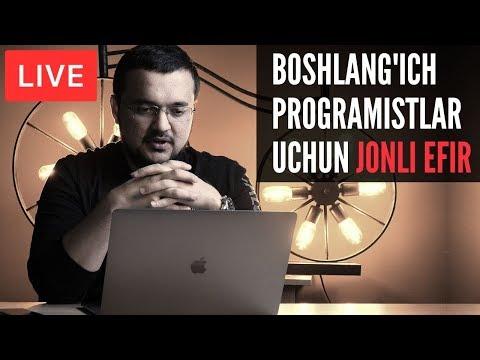 Boshlang'ich Programistlar Uchun Jonli Efir 02.02.2020