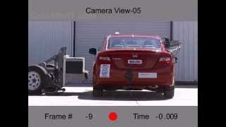 2013 Honda Civic Coupe | Side Crash Test by NHTSA | CrashNet1