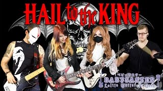 【AVENGED SEVENFOLD】-「Hail to the King」BAND COVER with JJ's One Girl Band, De Sade and Kri Drumnerd