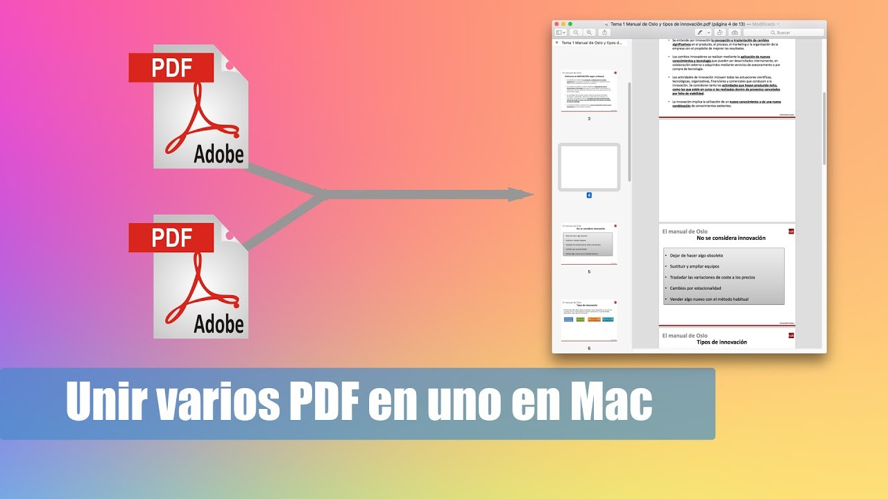 Cómo Unir Varios Pdf En Uno Solo Gratis En Mac Youtube