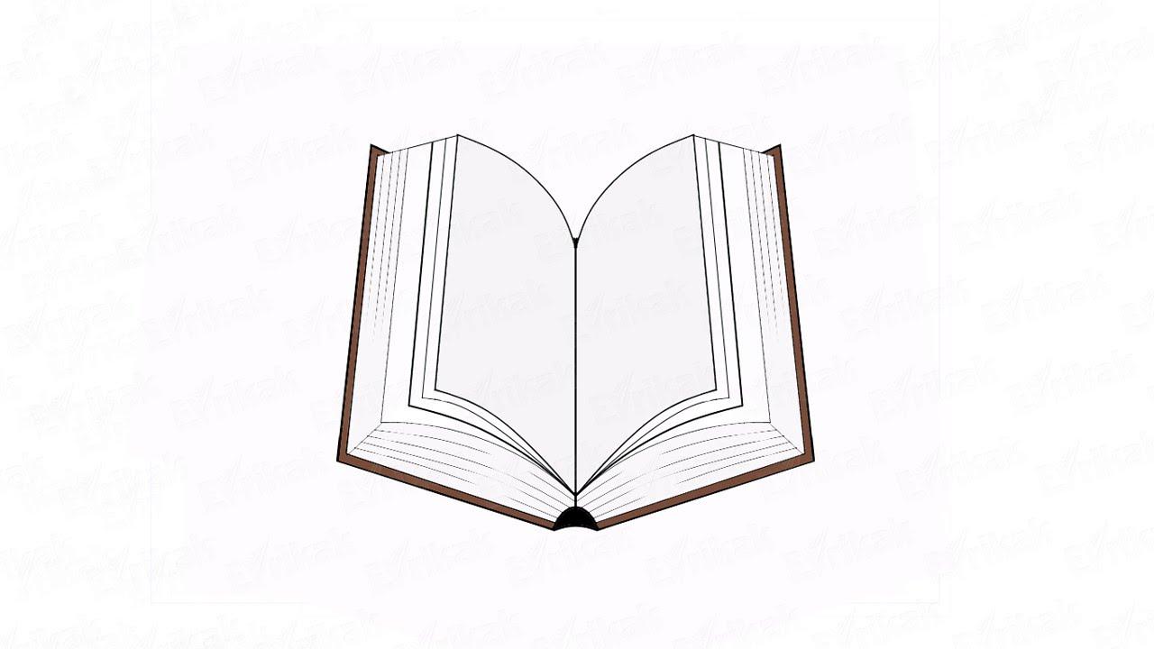 Картинка книги карандашом поэтапно