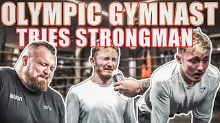 Olympic Gymnast Tries Strongman | *GOES VERY WRONG*