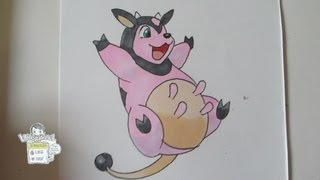 How to draw Pokemon: No.241 Miltank ミルタンク