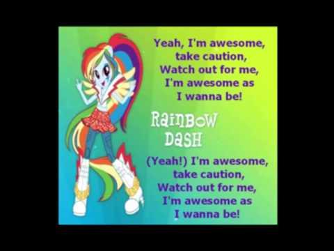"""""""Awesome As I Want to Be"""" - High Quality Karaoke - Rainbow Rocks"""