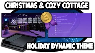[PS4 THEMES] Christmas And Cozy Cottage Holiday Dynamic Theme Video in 60FPS