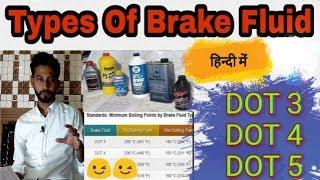 47) DOT 3~ DOT 4 ~ DOT 5    Brake Fluid Types ~ Hindi