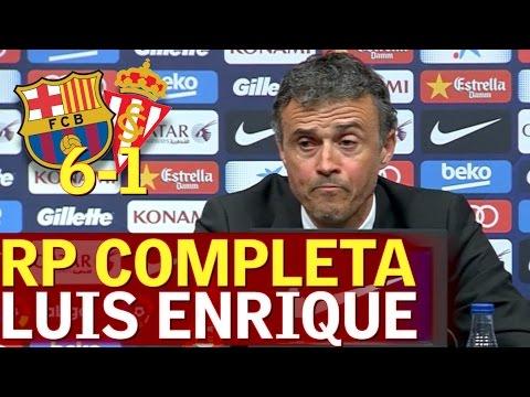 Barcelona 6-1 Sporting | Rueda de prensa de Luis Enrique en la que anunció su adiós