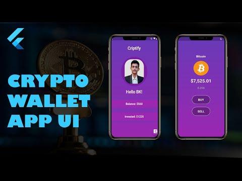 Flutter Crypto Wallet App UI
