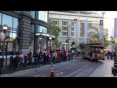 Powell Street cable car station in San Francisco