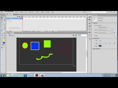 Vector Drawing Tools in Flash CS6 - Beginner