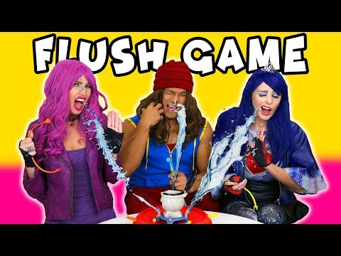 Will it Flush? Descendants 2 Flush Game Splashed with Water? Totally TV