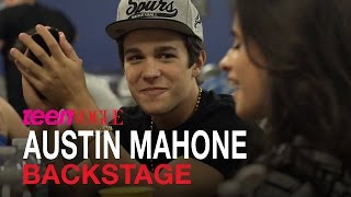 Austin Mahone Back Stage Before His Sold-Out Concert in Phoenix, AZ–Teen Vogue
