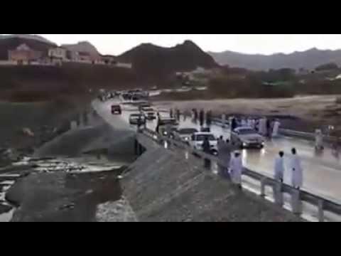 Flash flood in Oman.