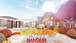 Autumnic Modern Mansion • Bloxburg Speed Build   [No Gamepass]