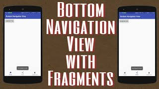 Bottom navigation view with fragments Android Studio (without plugin)