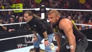 WWE Raw 4/1/2013 HBK TRIP H And Brock