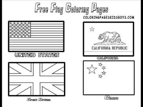 coloringbuddymike world flags coloring pictures - Flags World Coloring Pages