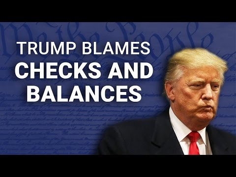 Trump Blames Constitutional Checks & Balances for Disastrous 100 Days